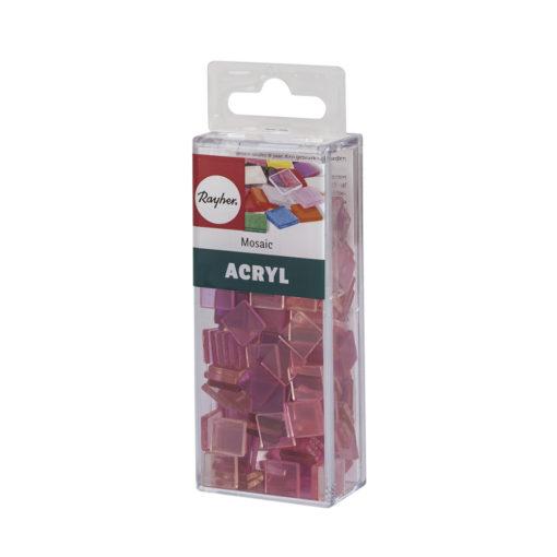 Rayher Acryl-Mosaik Steine, rosé, zum Basteln