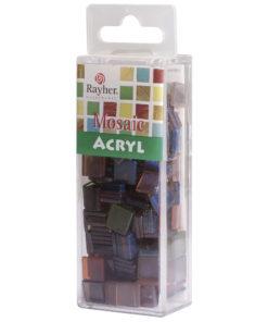 Rayher Acryl-Mosaik Steine, sienna gebrannt, zum Basteln