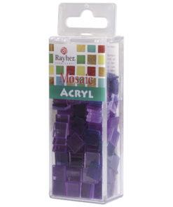 Rayher Acryl-Mosaik Steine, violett, zum Basteln