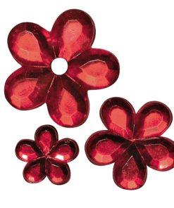 Rayher Acryl-Strassblüten rot