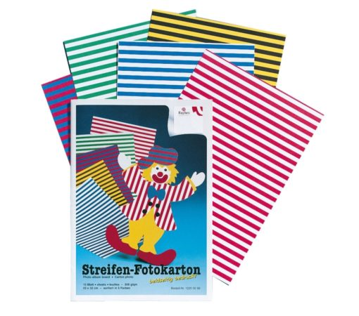 Ursus Bastelmappe mit Streifen-Fotokarton