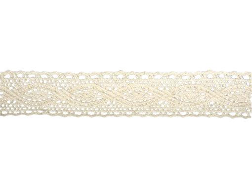 Rayher Baumwoll-Bordüre Cassandra beige 2,5 m