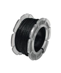 Baumwoll Schmuckkordel in schwarz