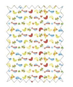 Rayher Baumwoll-Stoff mit Vogelmuster