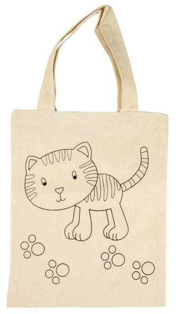 Baumwoll-Tragetasche Katze, für die textile Gestaltung