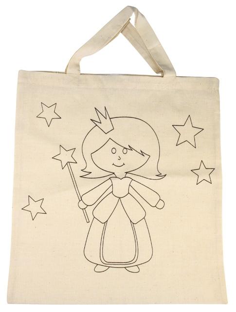 Baumwoll-Tragetasche Prinzessin, für die textile Gestaltung