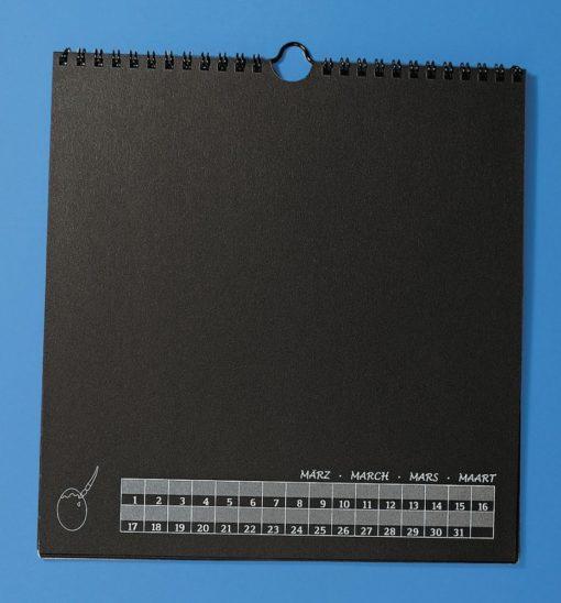 Bastelkalender, schwarz, zum selber Gestalten