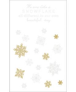 Deko-Motive Schneeflocken, zum Abziehen