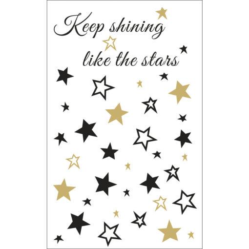 Deko-Motive Sterne, zum Abziehen
