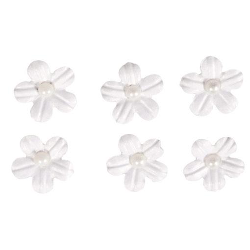 Rayher Papier-Blütenmischung weiß