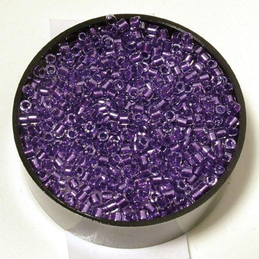 Delicia Rocailles Perlglanz zur Schmuckherstellung in violett