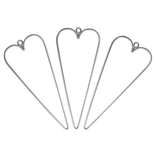 Rayher Drahtform Herz, 12x5 cm, 3 Stück