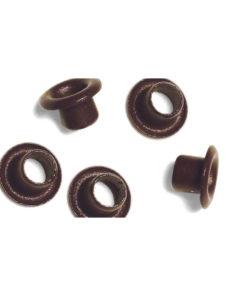 Rayher Easy Eyelets nougat, rund, 4+8mm, 75 Stück