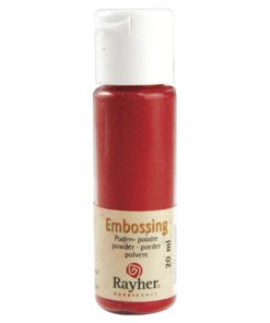 Rayher Embossing-Puder, klassikrot deckend, 20 ml