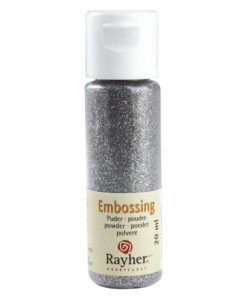 Rayher Embossing-Puder, brillant-silber deckend, 20 ml