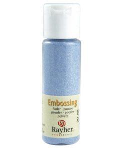 Rayher Embossing-Puder, hellblau deckend, 20 ml