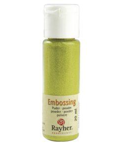 Rayher Embossing-Puder, maigrün deckend, 20 ml