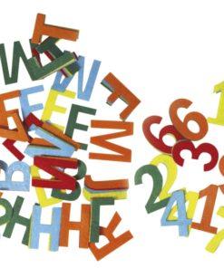 Filz Zahlen und Buchstaben zum Basteln