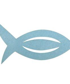 Filz Manschette für Servietten Fisch in hellblau