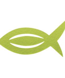 Filz Manschette für Servietten Fisch in lindgrün