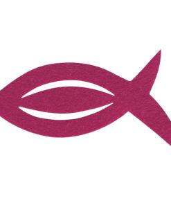 Filz Manschette für Servietten Fisch in pink