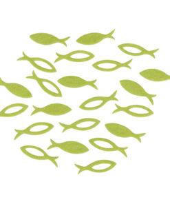 Filz Streuteile Fisch in hellgrün