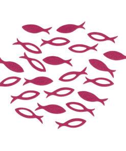 Filz Streuteile Fisch in pink