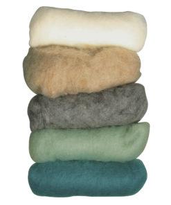 Schafschurwolle zum Trockenfilzen