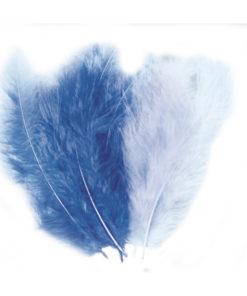 blaue Flauschfedern zum Basteln