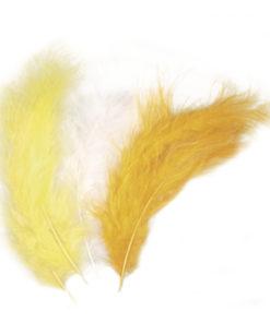 gelbe Flauschfedern zum Basteln