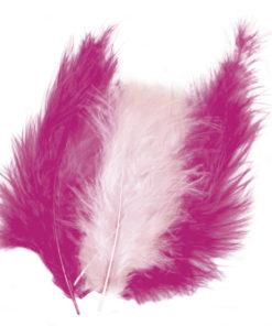 rosa Flauschfedern zum Basteln