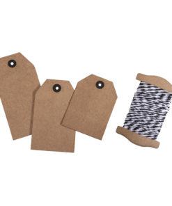 Geschenkanhänger, Tags aus Kraftpapier