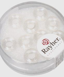Glas Großloch Ringel in bergkristal