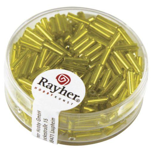 Glasstifte mit Silbereinzug zur Schmuckherstellung in gelb