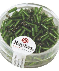Glasstifte mit Silbereinzug zur Schmuckherstellung in grün