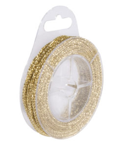 Kordel mit Glittereffekt, gold