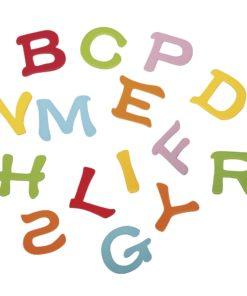 Holzstreuer Alphabet, im Farbenmix