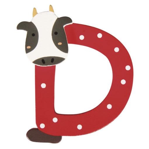 Rayher Holz-Buchstabe D, für Kinder, zum Kleben und Dekorieren