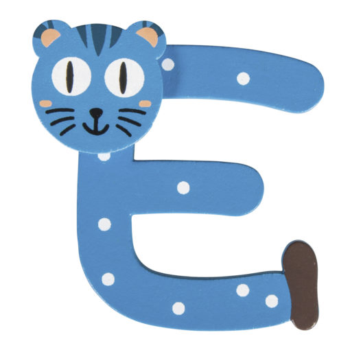 Rayher Holz-Buchstabe E, für Kinder, zum Kleben und Dekorieren