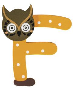 Rayher Holz-Buchstabe F, für Kinder, zum Kleben und Dekorieren