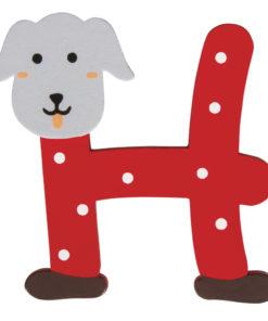 Rayher Holz-Buchstabe H, für Kinder, zum Kleben und Dekorieren