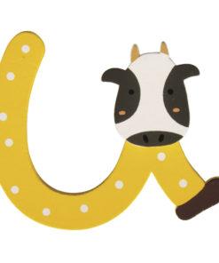 Rayher Holz-Buchstabe U, für Kinder, zum Kleben und Dekorieren