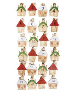 Advents-Holzklammern Haus 1-24