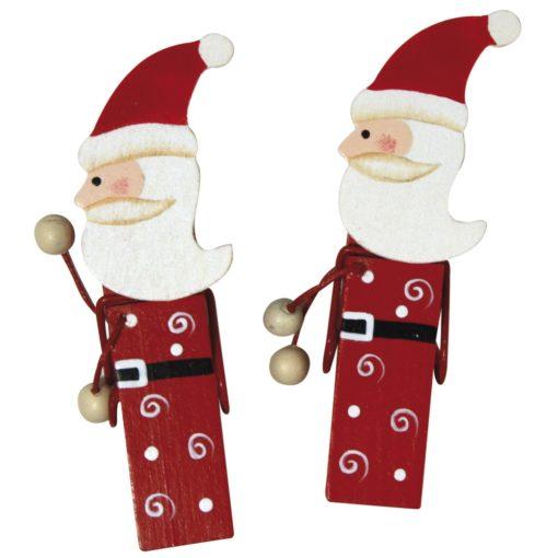 Rayher Weihnachtsmann-Holzklammer