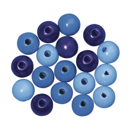 Rayher Holzperlen-Mischung blau