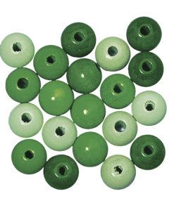 Rayher Holzperlen-Mischung grün
