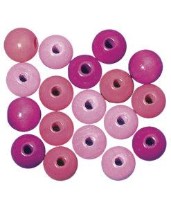 Rayher Holzperlen-Mischung pink-rosa