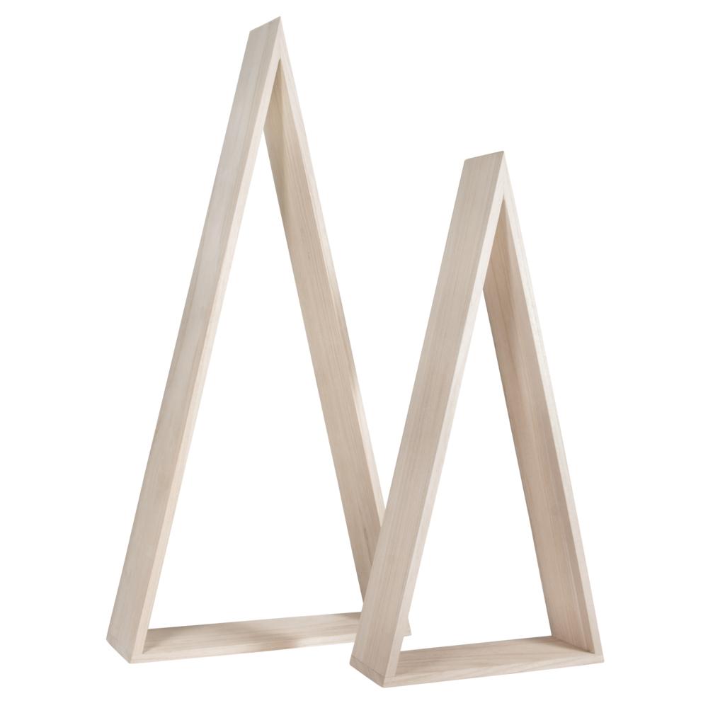 Holz Rahmen Dreieck Set Gross