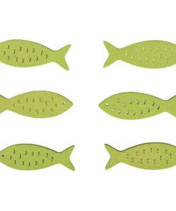Holzstreuer Fisch lindgrün, zum Dekorieren
