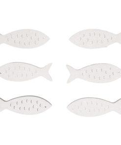 Holzstreuer Fisch weiß, zum Dekorieren